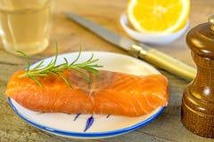 Raw salmon fillet Royalty Free Stock Photos