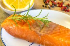 Raw salmon fillet Royalty Free Stock Image