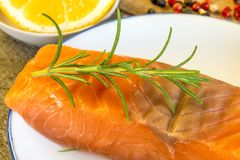 Raw salmon fillet Stock Photography