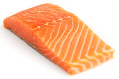 Raw salmon fillet on white Stock Image