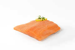 Raw salmon fillet Royalty Free Stock Images