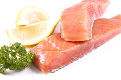 Raw salmon fillets Royalty Free Stock Photo