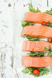 Raw Salmon Fish Stock Images