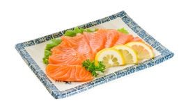 Raw Salmon fish on the background. Stock Image