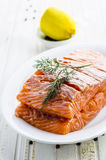 Raw salmon fish Stock Image