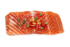 Raw Salmon Isolated Royalty Free Stock Images