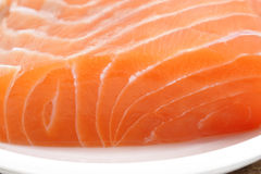 Raw salmon meat. Close up of raw salmon meat Royalty Free Stock Photo