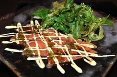 Raw salmon salad Royalty Free Stock Images