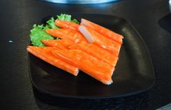 Raw salmon slice or salmon sashimi in Japanese style fresh serve in bowl at Japanese. Raw salmon slice or salmon sashimi in Japanese style fresh serve on bowl Stock Photography