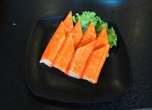 Raw salmon slice or salmon sashimi in Japanese style fresh serve in bowl at Japanese. Raw salmon slice or salmon sashimi in Japanese style fresh serve on bowl Royalty Free Stock Image