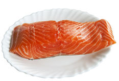 Raw salmon steak Stock Photography