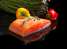 Raw salmon. Stock Images