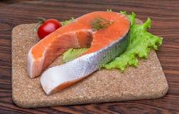 Raw salmon steak Stock Image