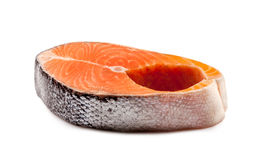 Raw Salmon Steak Royalty Free Stock Photography