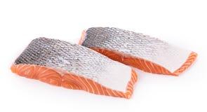 Raw salmon steaks Royalty Free Stock Image