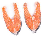 Raw salmon steaks Royalty Free Stock Photography