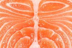 Raw Salmon Texture. Macro shot of fresh raw steak salmon background Royalty Free Stock Photography