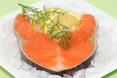 Raw salmon-trout-steak Stock Image