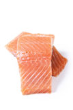 Raw salmon. On a white background Royalty Free Stock Photos