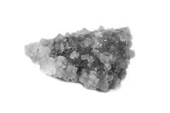 Raw salt mineral. Isolated shot of a piece of raw salt Royalty Free Stock Photos