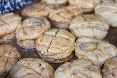 Raw salty scones Stock Images