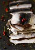Raw sardine fillets Stock Photos