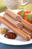 Raw sausage Stock Images