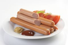 Raw sausage Royalty Free Stock Image