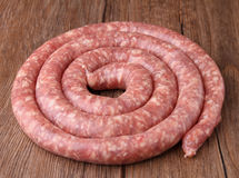 Raw sausage Royalty Free Stock Photos