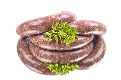 Raw sausage Stock Photo