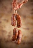 Raw sausage Stock Photos