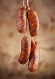 Raw sausage Royalty Free Stock Photo