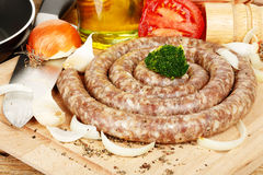 Raw sausage Royalty Free Stock Photography