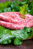 Raw sausage Stock Photo
