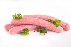 Raw sausage Stock Photos