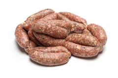 Raw sausage Royalty Free Stock Image