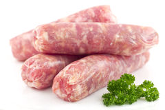 Raw Sausage Royalty Free Stock Images