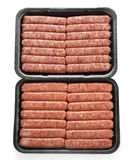 Raw Sausage Links stock photo