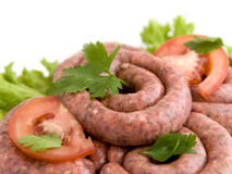 Raw sausages Stock Image