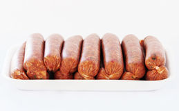 Raw sausages Royalty Free Stock Photography