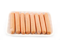 Raw sausages Stock Photography