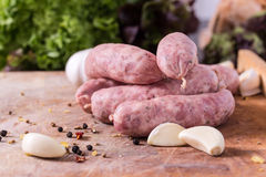 Raw Sausages Royalty Free Stock Image