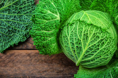 Raw savoy cabbage Royalty Free Stock Photos