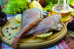 Raw sea bass. Ready for healthy cooking Royalty Free Stock Photo