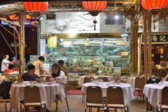 Raw Sea food Restaurant. Hong Kong Raw Sea food Restaurant royalty free stock photo