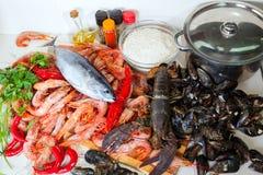 Raw sea food specialties Royalty Free Stock Photo