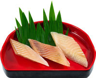 Raw Seafood. The Isolation raw seafood ingredient in the decorated container stock image