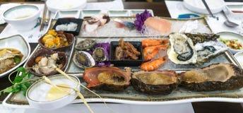 Raw seafood platter Royalty Free Stock Image