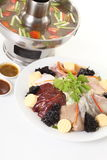 Raw seafood and vegetable Stock Images