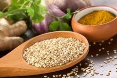 Raw Sesame Seeds Royalty Free Stock Image